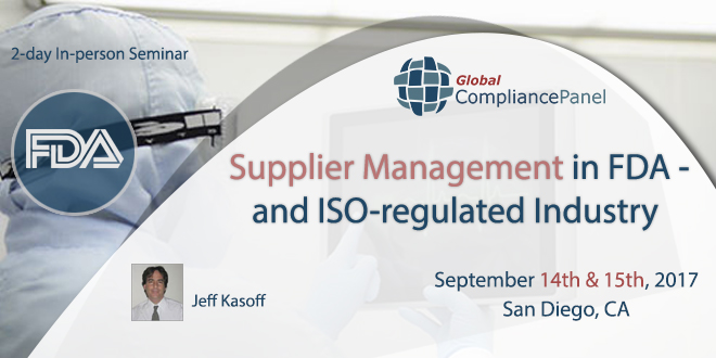 Supplier Management in FDA- and ISO-regulated Industry