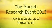 The Market Research Event 2013