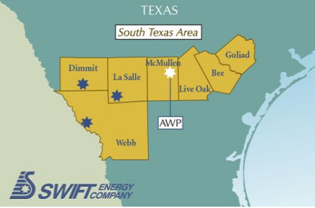 Swift Energy Company, South Texas Region Operational Map 2012
